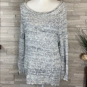 Free People Chunky Marled Long Sweater XS